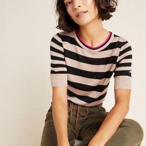 Anthropologie NWT Striped Sweater Tee  L Petite